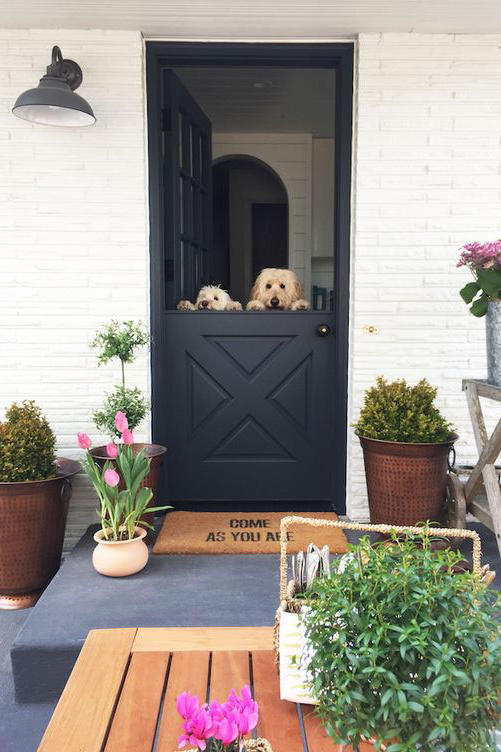 Crisp Black with Fresh Greenery & 17 Dutch Doors Weu0027re Absolutely Loving - Southern Living