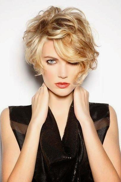 Curly Side-Swept Pixie