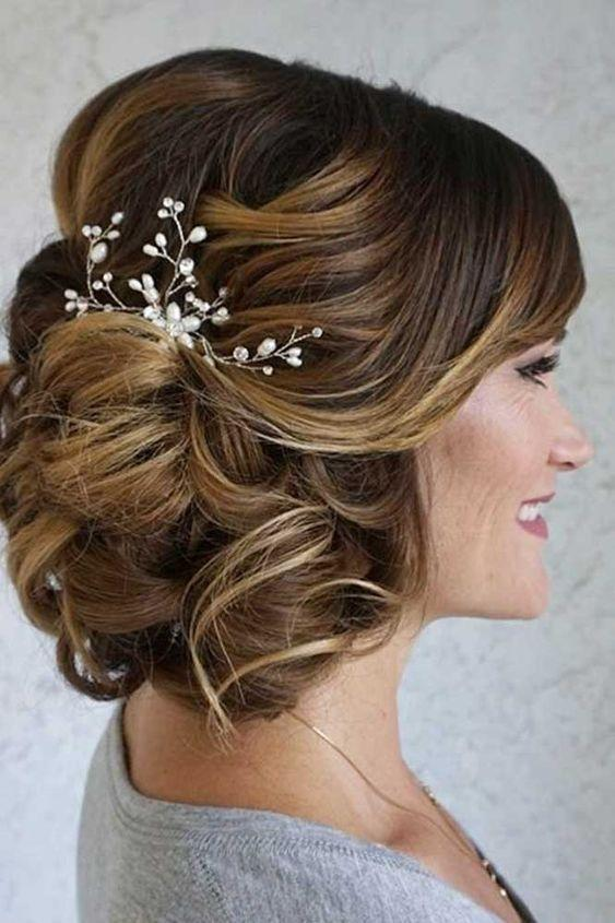 Messy, Curled Up-Do with Accent