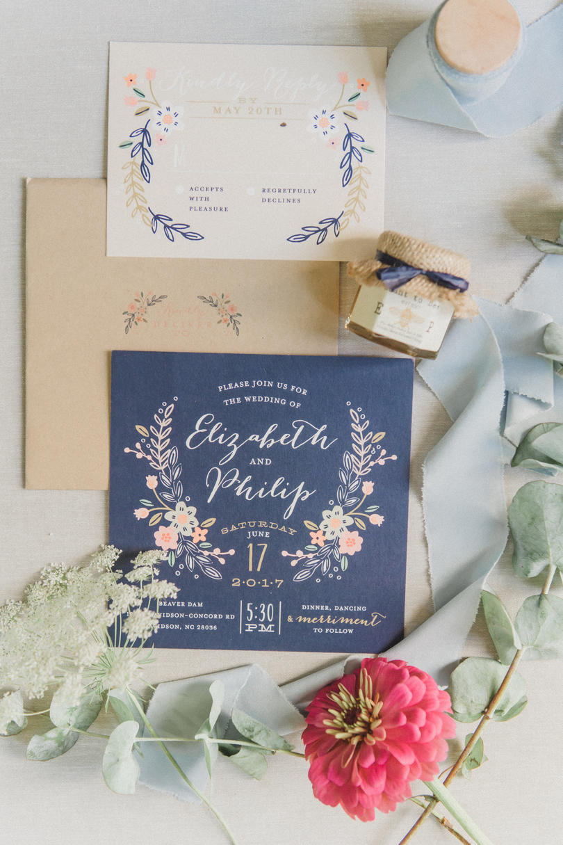 Charming Botanic Invitation Suite