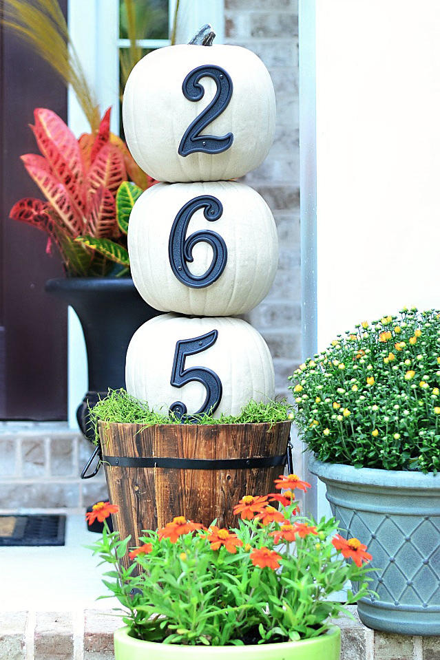 House Number Topiary