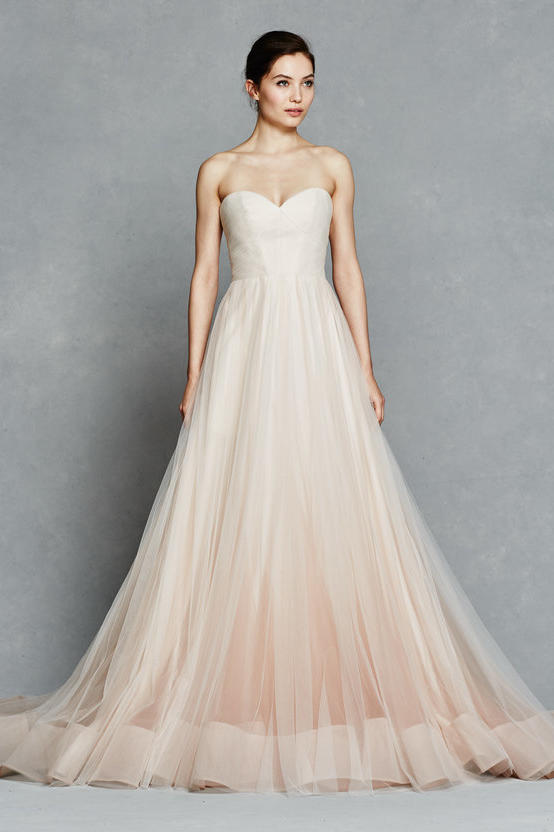 Blush wedding dress styles we love southern living blush ombre ball gown junglespirit Image collections
