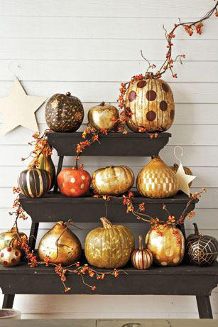 Metallic Patterned Pumpkins