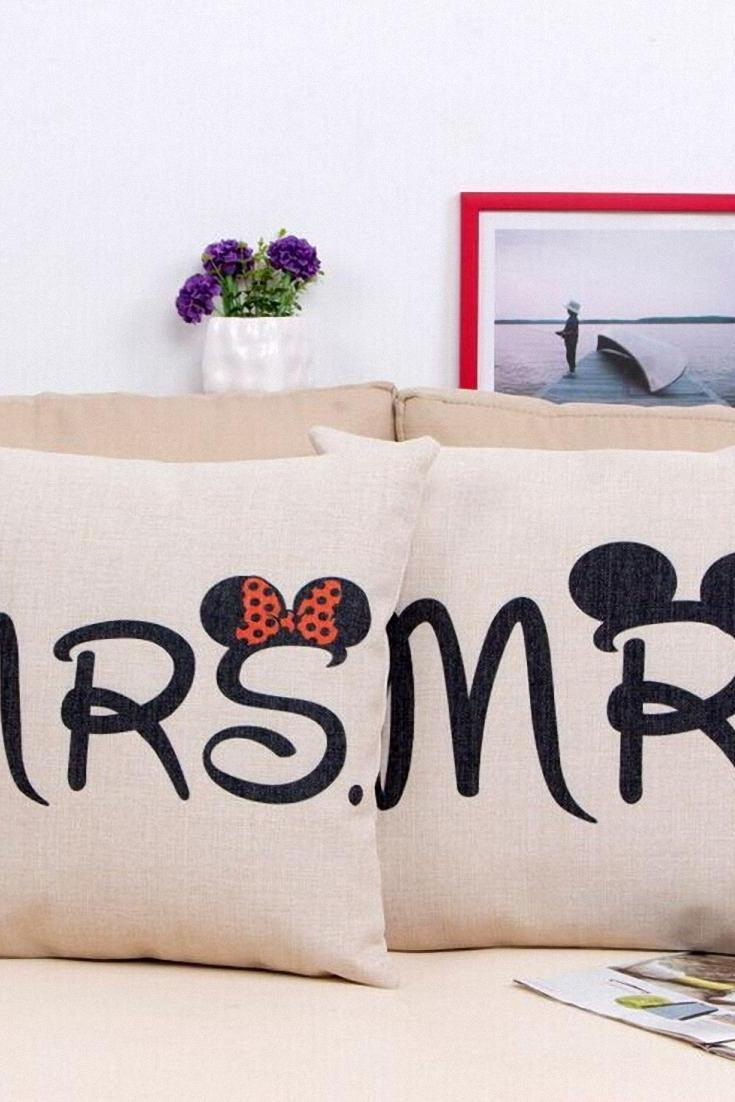"""Mickey and Minnie """"Mr."""" and """"Mrs."""" Pillow Cases"""