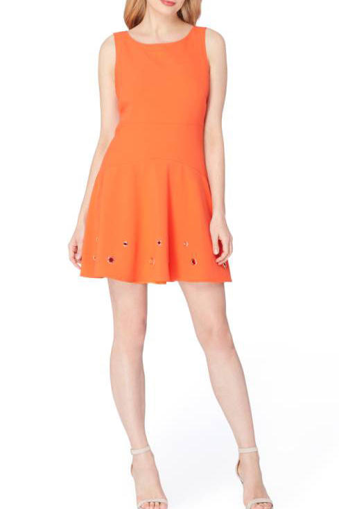 Tahari Grommet Stretch Dress