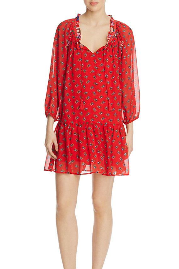 Beltaine Floral Peasant Dress