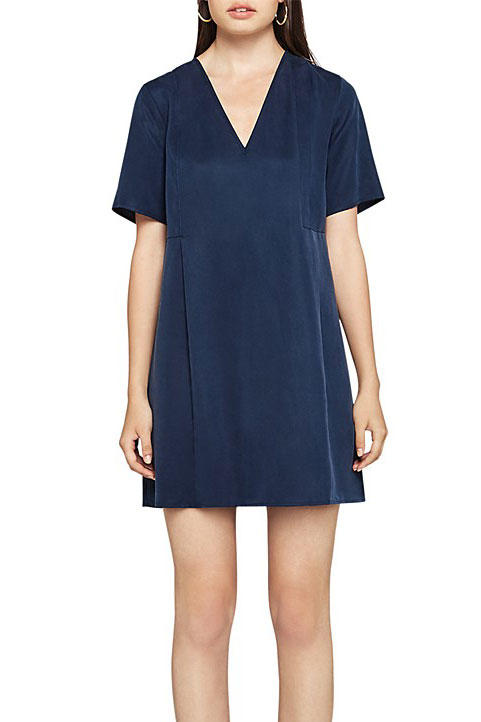 BCBGeneration Pleat-Detail V-Neck Dress