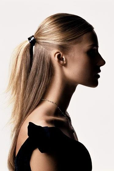 Half Up Sleek Ponytail