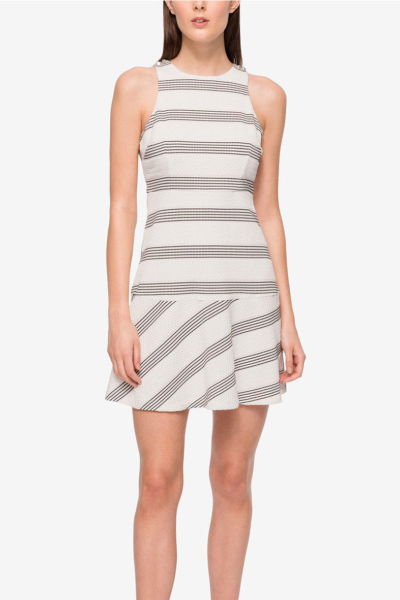 Jessica Simpson Striped Drop-Waist Dress