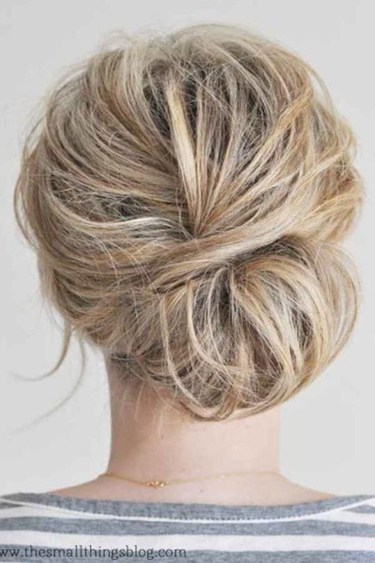 Twist-Over Chignon