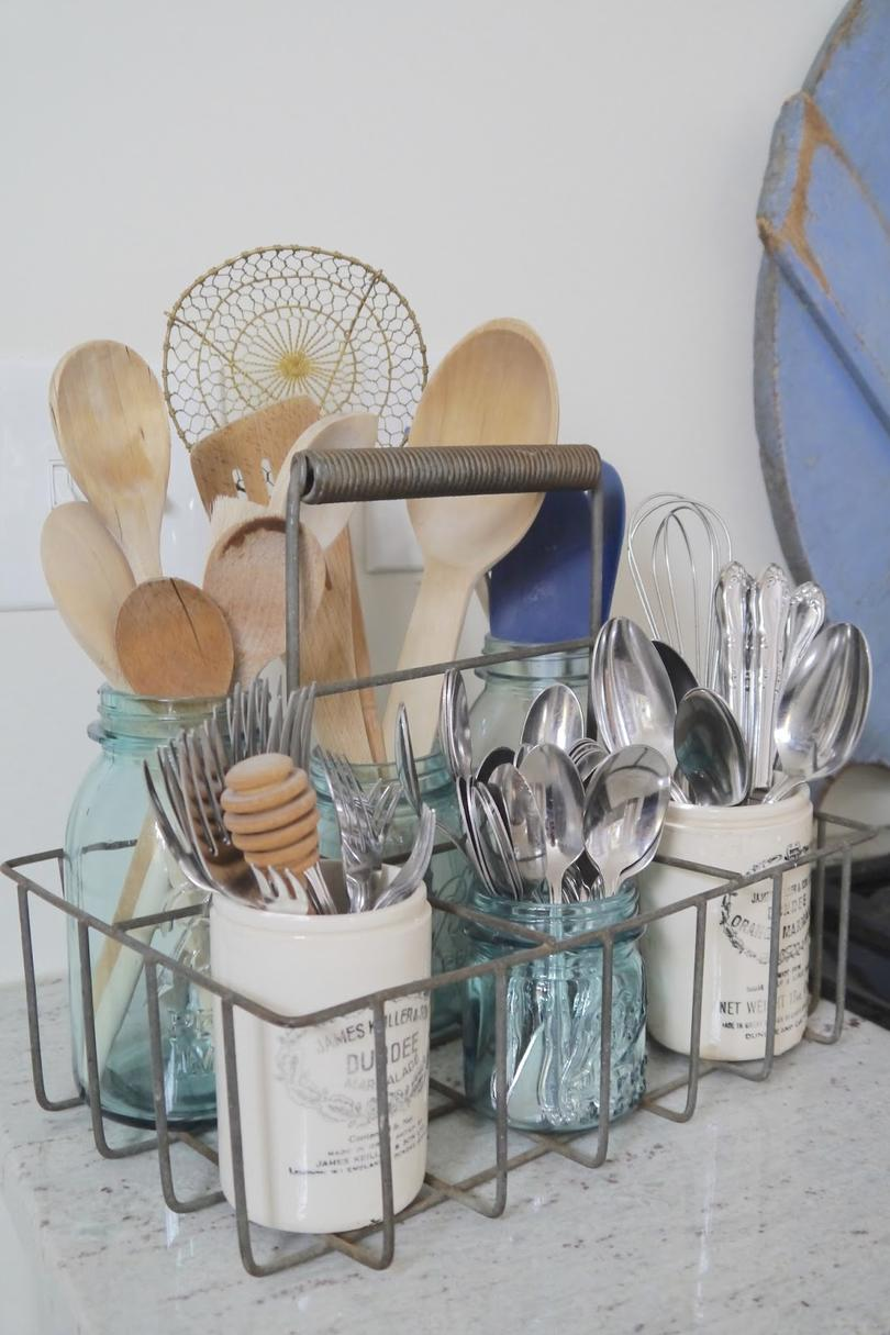 Countertop Utensil Storage Ideas