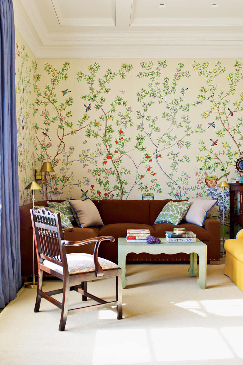 Stylish Window Dressings and Wallpapers