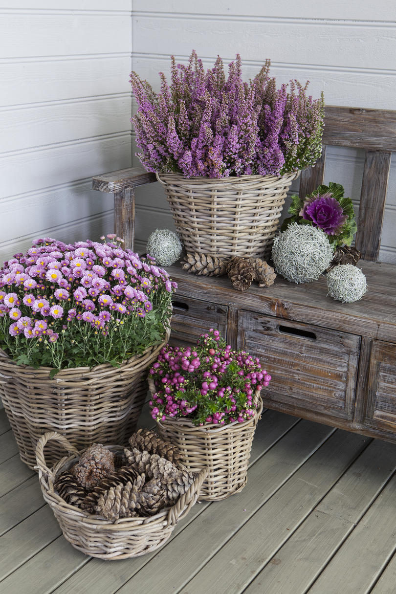Use Wicker Baskets