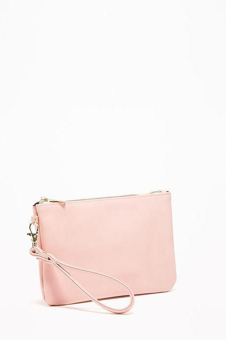 Zip-Top Charging Wristlet Clutch
