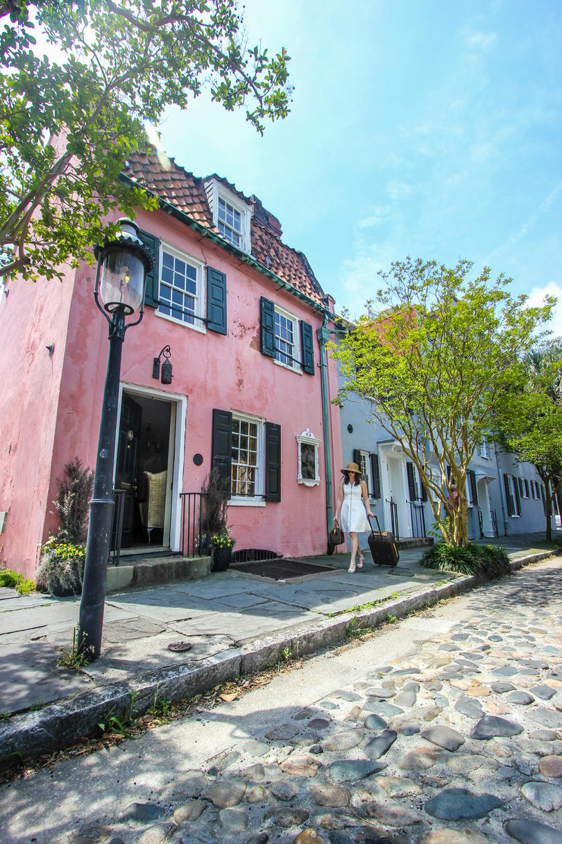 Charleston Pink House The Street Is Just As Charming