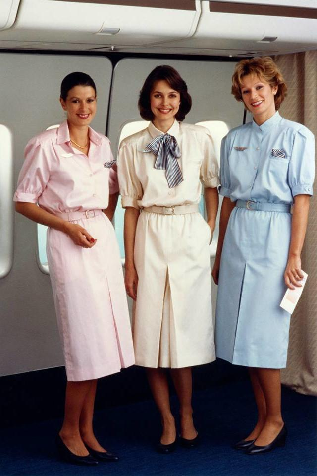 flight attendant uniforms through the years southern living. Black Bedroom Furniture Sets. Home Design Ideas