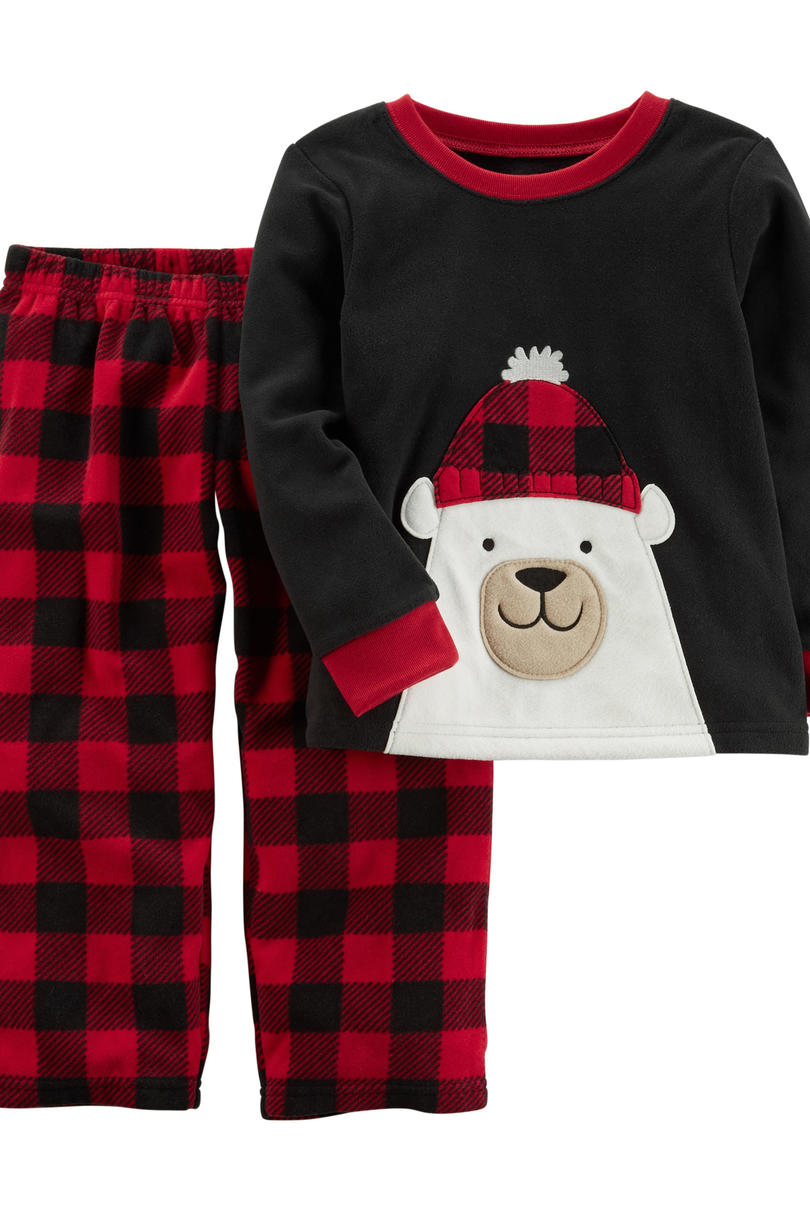 Boys Plaid Christmas Pajamas