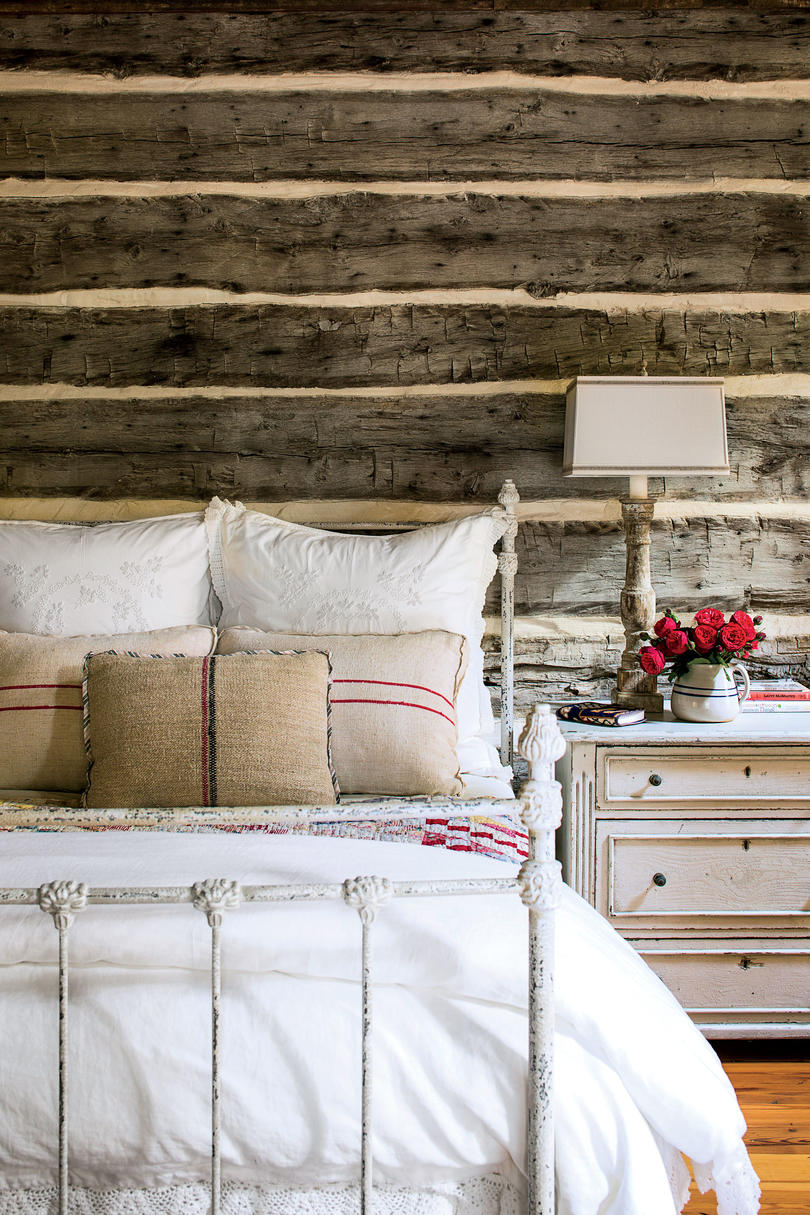 Barnwood Accent Wall in Bedroom