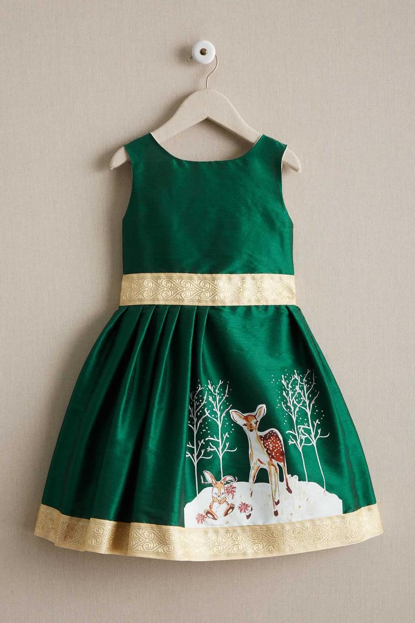 Girls' Winter Fawn Dress