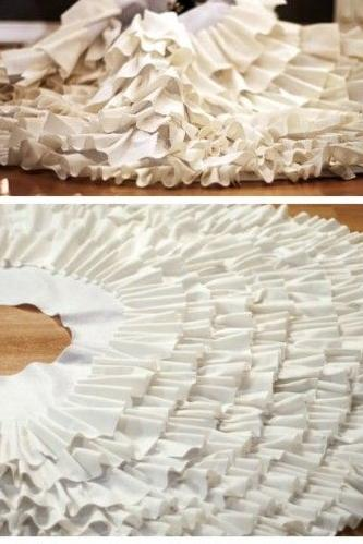 Creative ideas for christmas tree skirts southern living white ruffled diy tree skirt solutioingenieria Choice Image