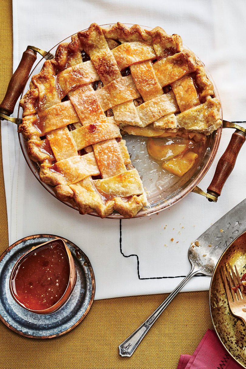 November- Arkansas Black Apple Pie with Caramel Sauce