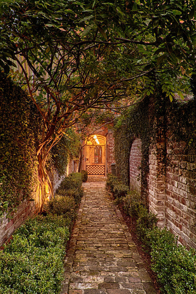 Enchanting Brick Walkway