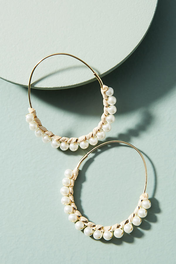 Callie Pearl Hoop Earrings