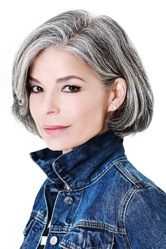 Amazing gray hairstyles we love southern living classic bob urmus Choice Image