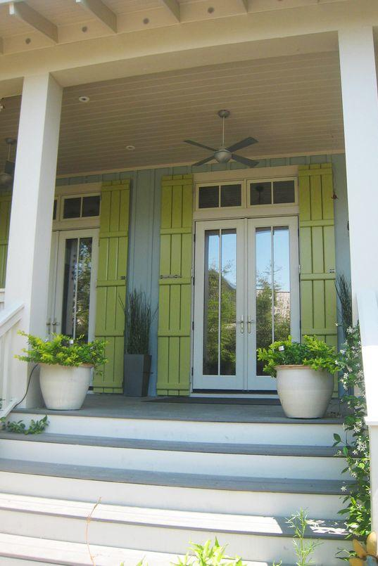 French Door Shutters & Bright and Colorful Shutters That Add Instant Curb Appeal - Southern ...