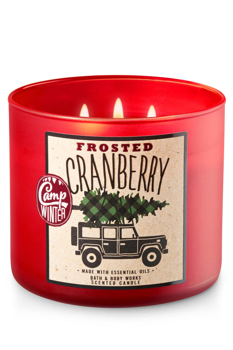 Frosted Cranberry Bath & Body Works Candle