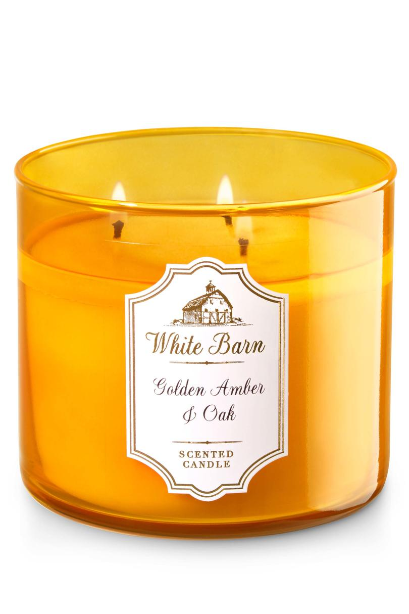 Golden Amber & Oak Bath & Body Works Candle