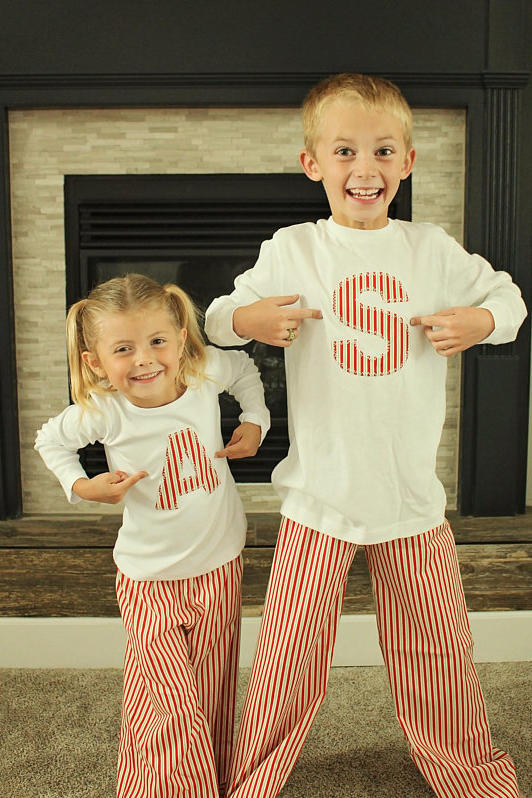 Matching Monograms With Candy Stripes