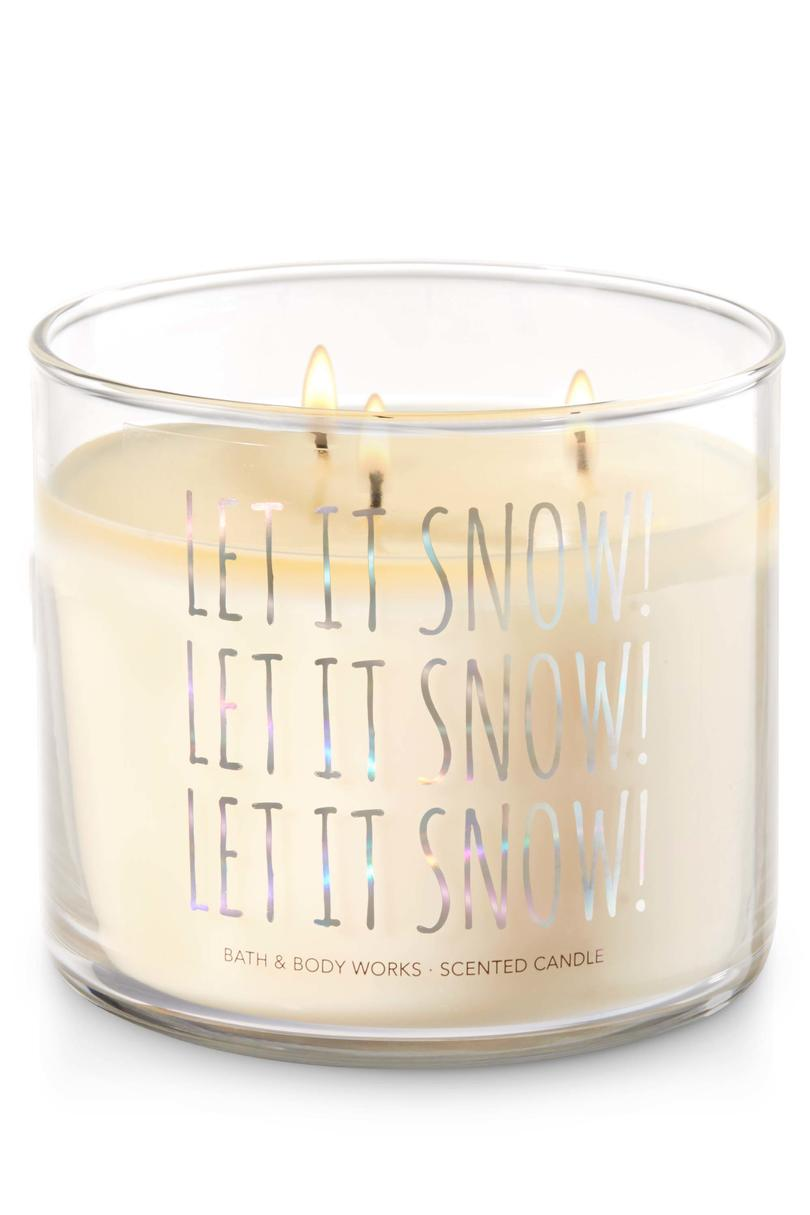 Twisted Peppermint Let It Snow Bath & Body Works Candle