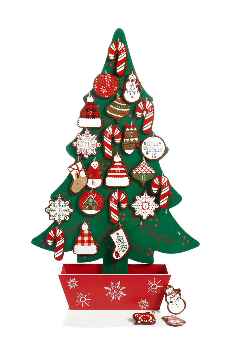 Holiday Lane Wood Christmas Tree Advent Calendar