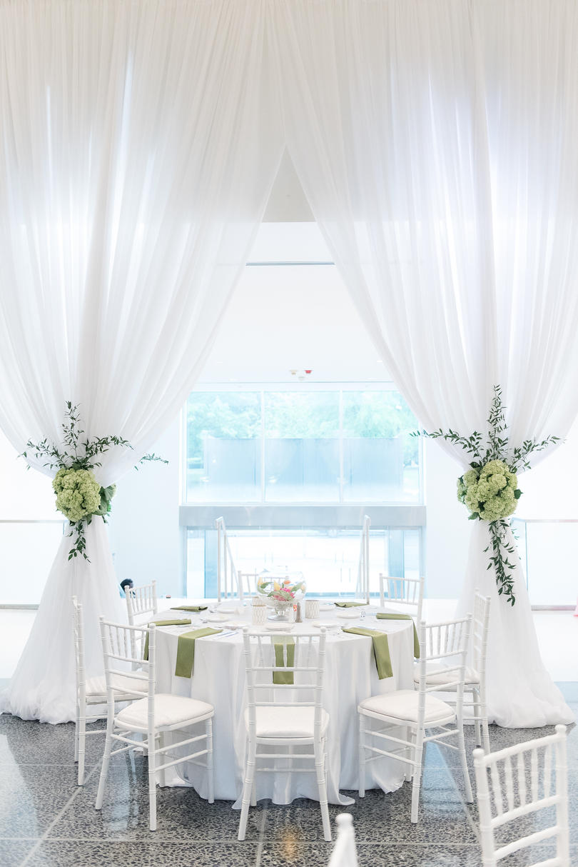 An All-White Canvas With Colorful Accents