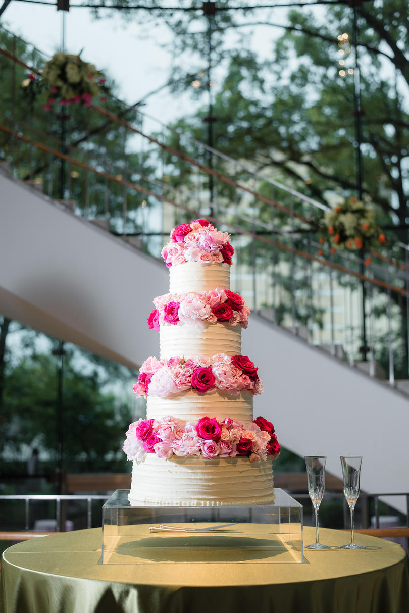 Buttercream and Bubblegum Pink Wedding Cake