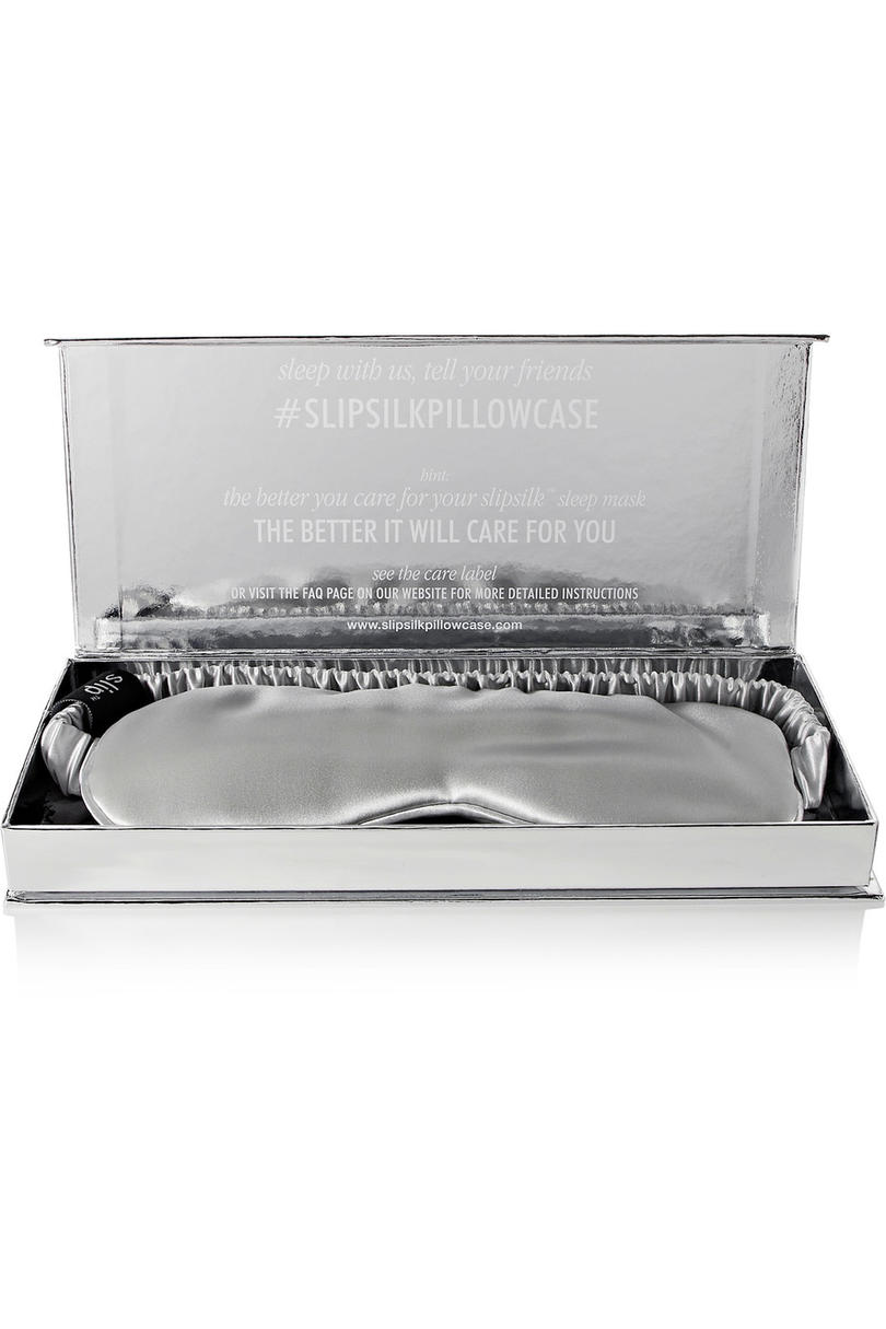 Slip Silk Eye Mask in Silver