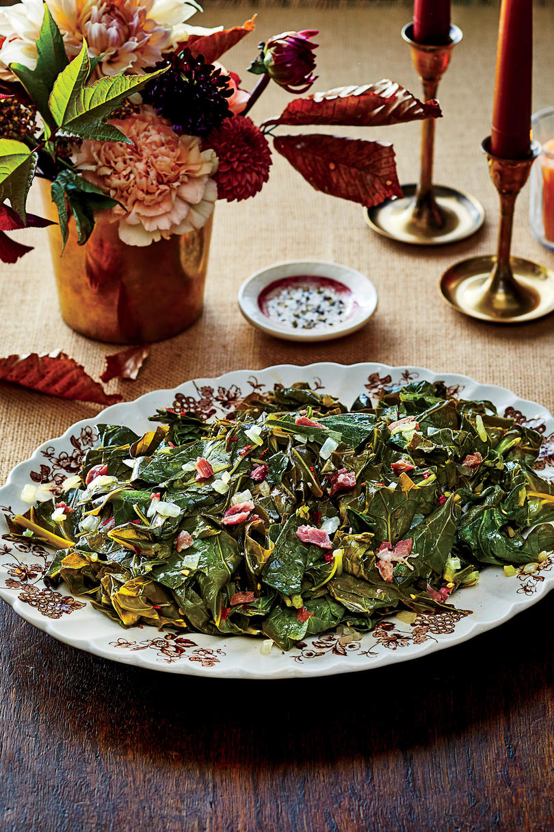 Slow-Cooker Collard Greens with Ham Hocks Recipe