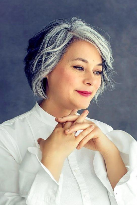 salt and pepper hair styles for woman amazing gray hairstyles we love southern living