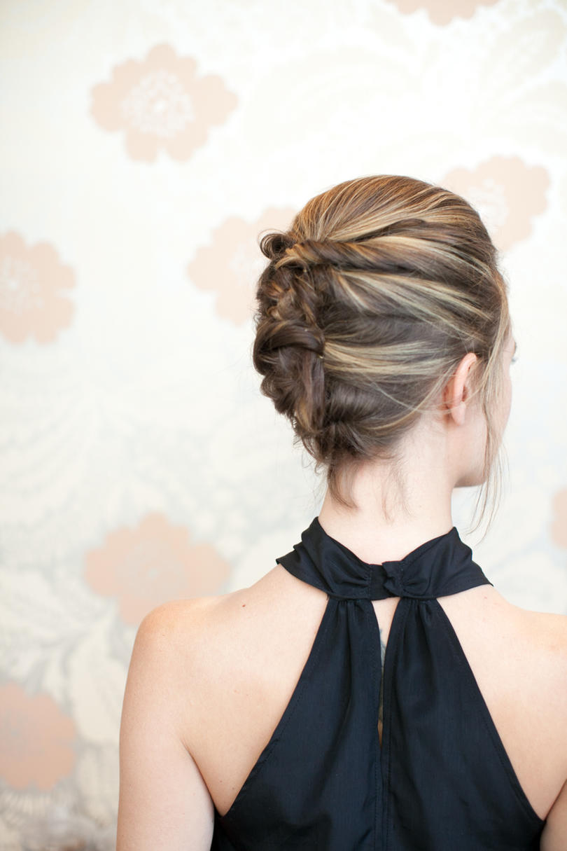 Updos stylish for medium length hair