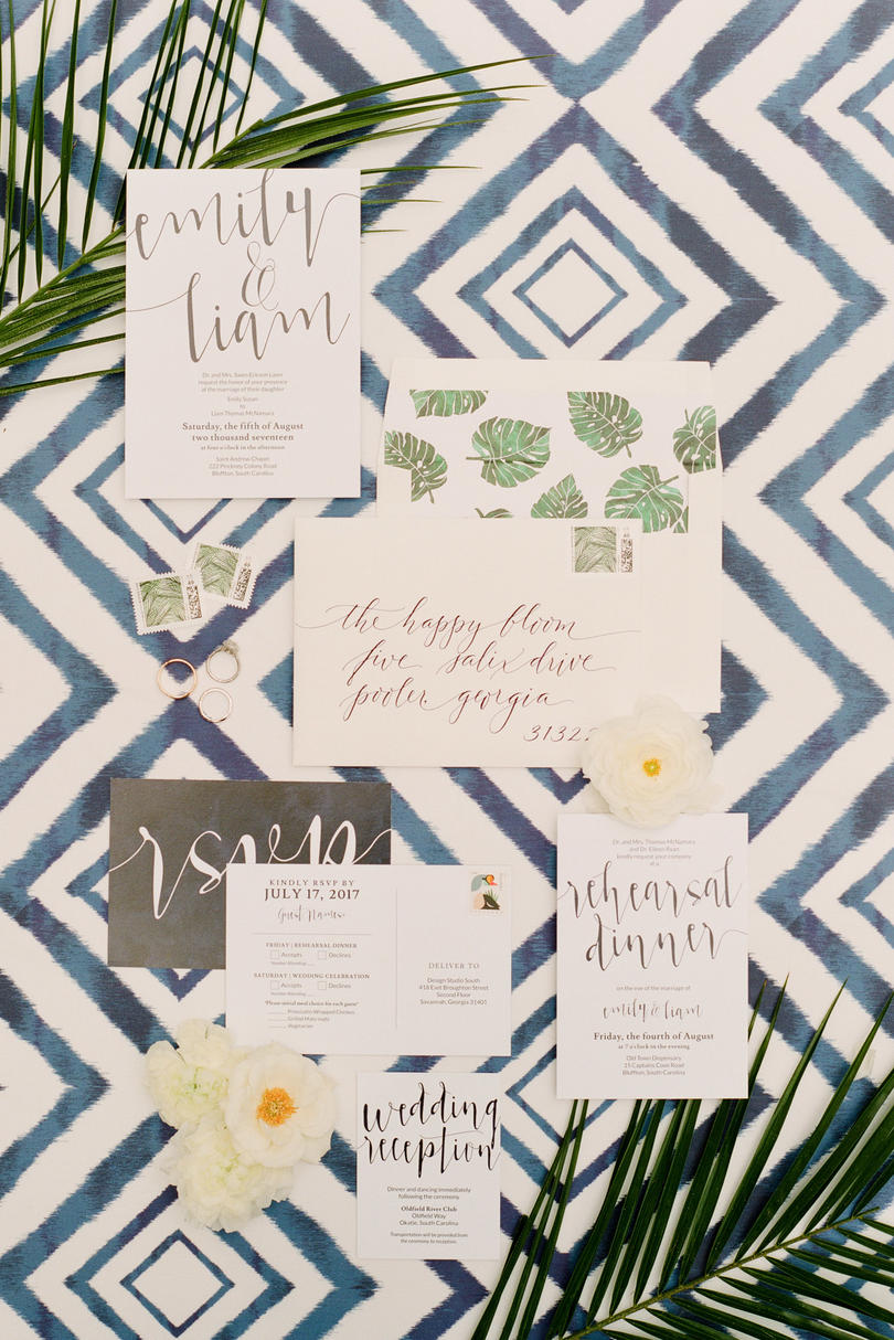 Palm Frond Wedding Invitation