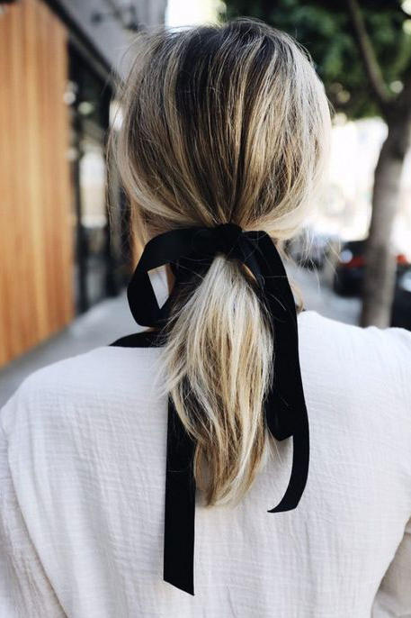 Velvet Ribbon Ponytail