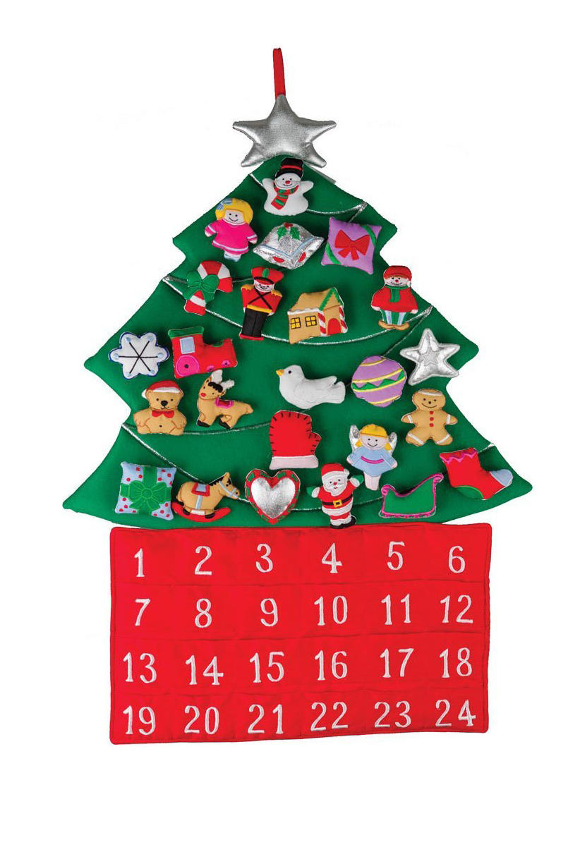 Christmas Tree Fabric Advent Calendar