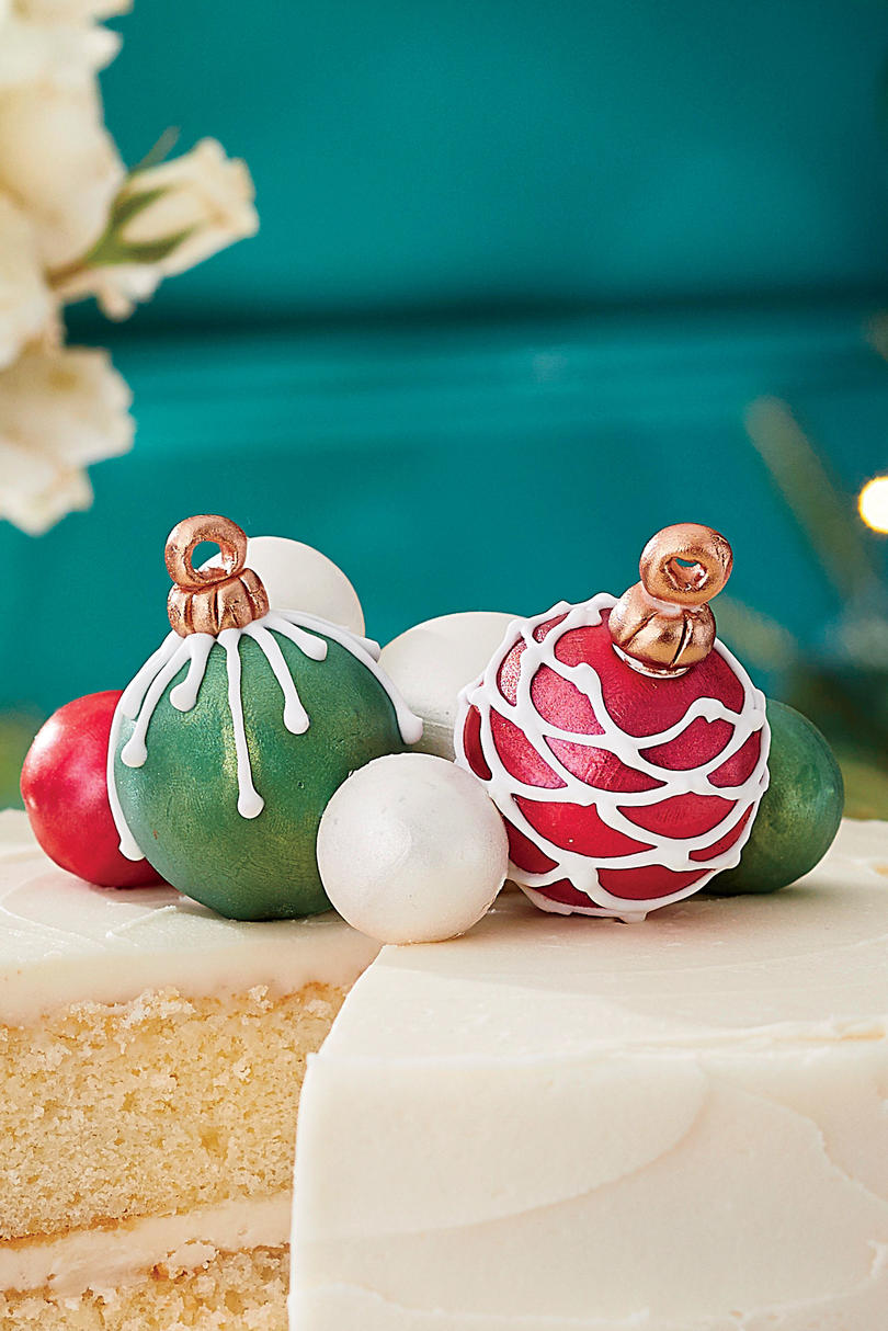 Cake Ball Ornaments