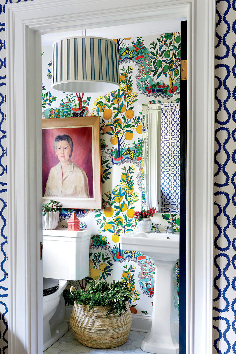 Sohr Powder Room Decorated for Christmas