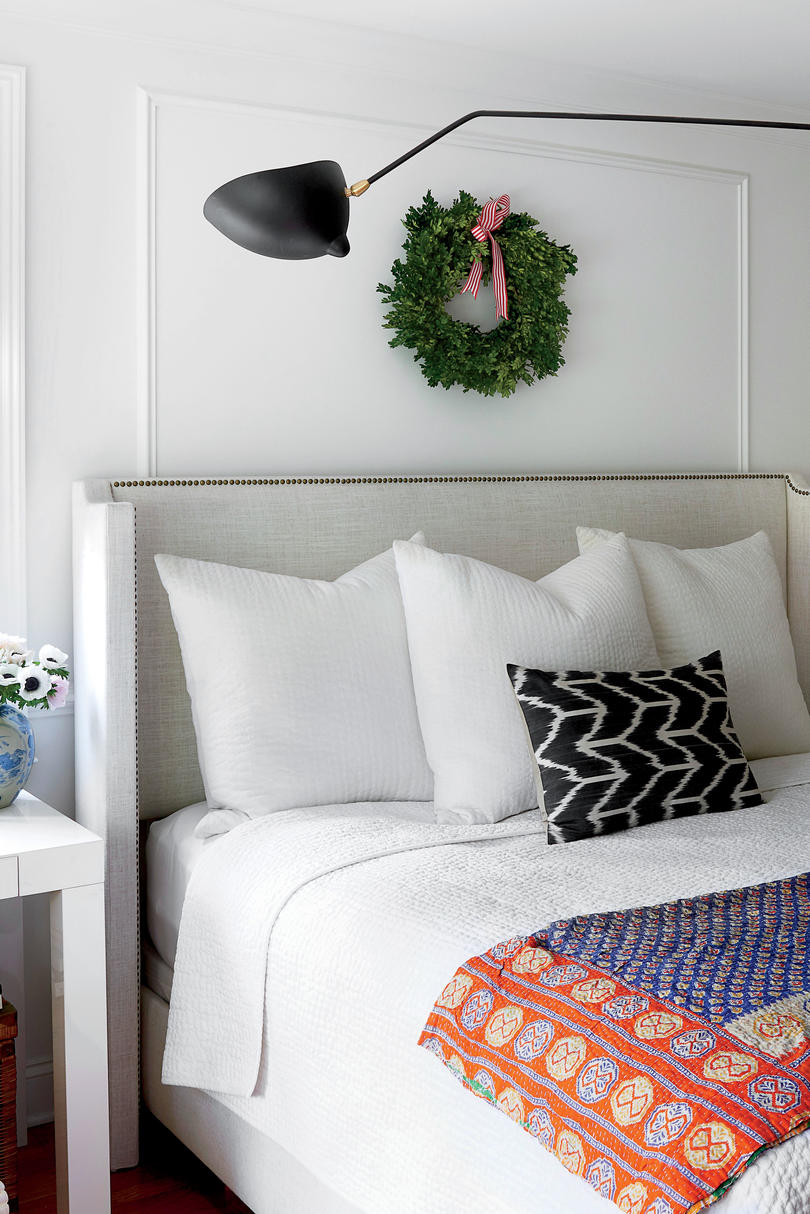 Sohr Master bedroom Decorated for Christmas