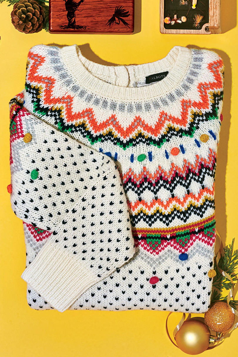 Talbots Carnival Fair Isle Sweater