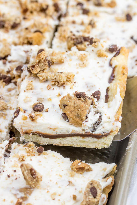 Chocolate Chip Cookie Slab Pie