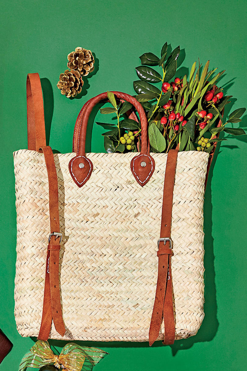 Ferry around fresh-cut greenery in this handmade palm-leaf tote.