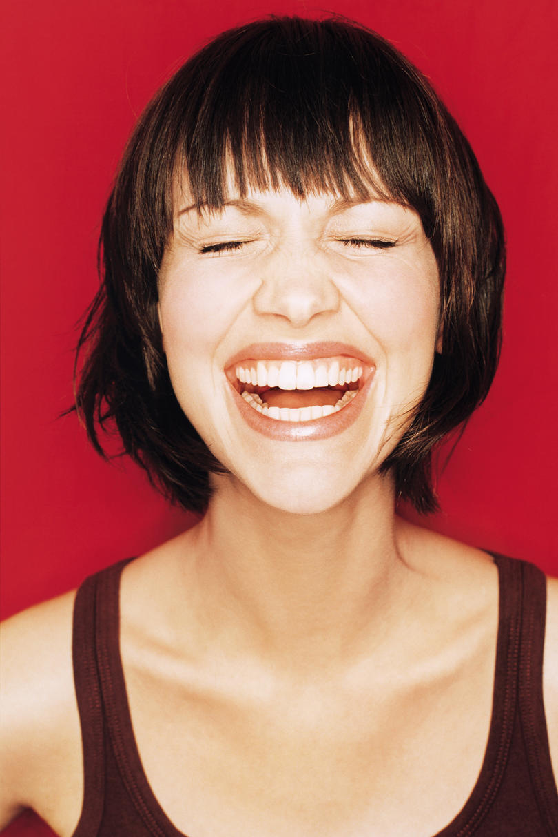 Woman with Choppy Bob Haircut with Bangs